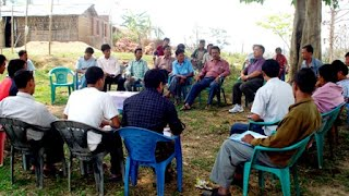 Farmers interacting with scientists at MARD project site