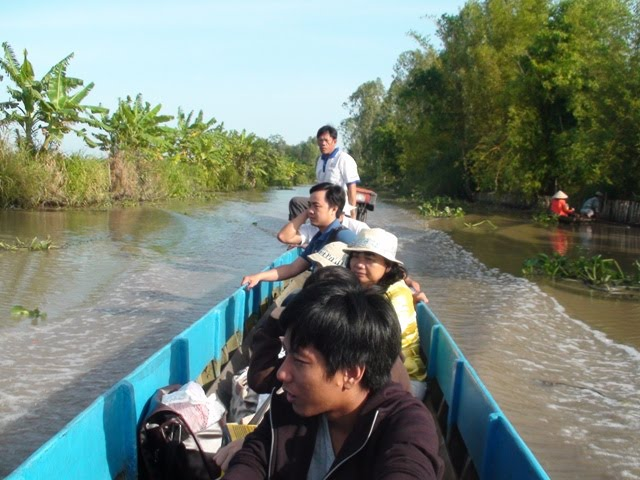 I would need a type of rice variety that could survive flooding and salty soil (Mr. Nhuong, rear portion of the boat).