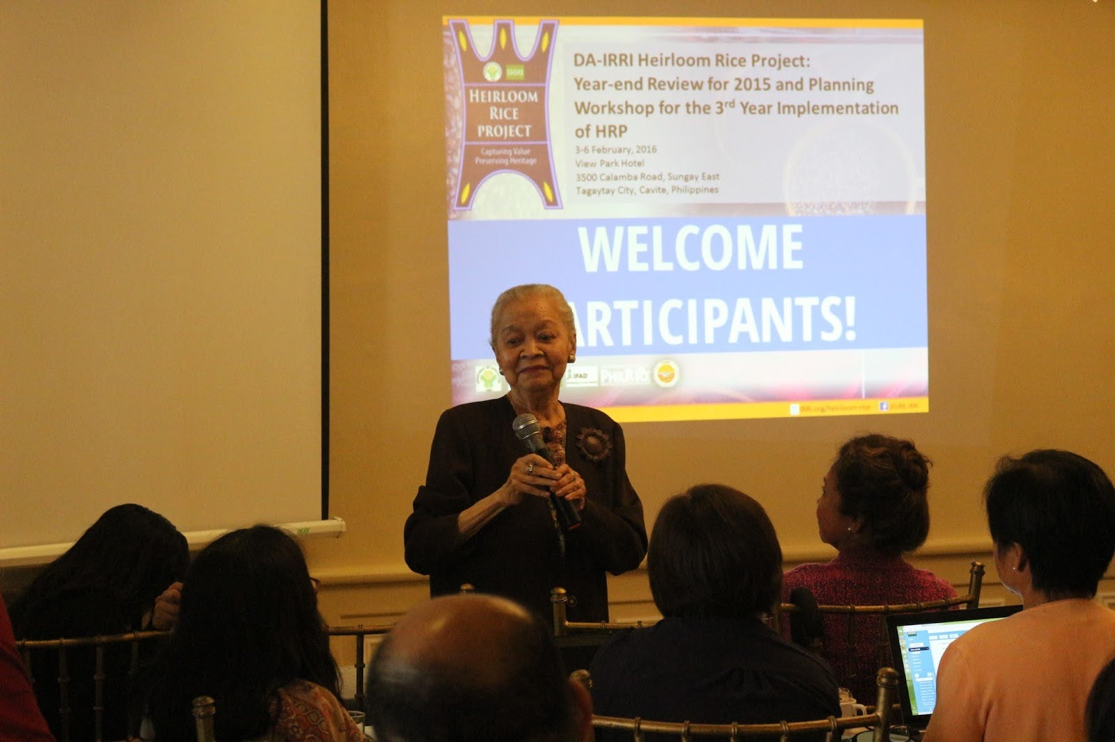 Dr. Gelia Castillo, National Scientist, gives an inspirational message to participants of the annual meeting.